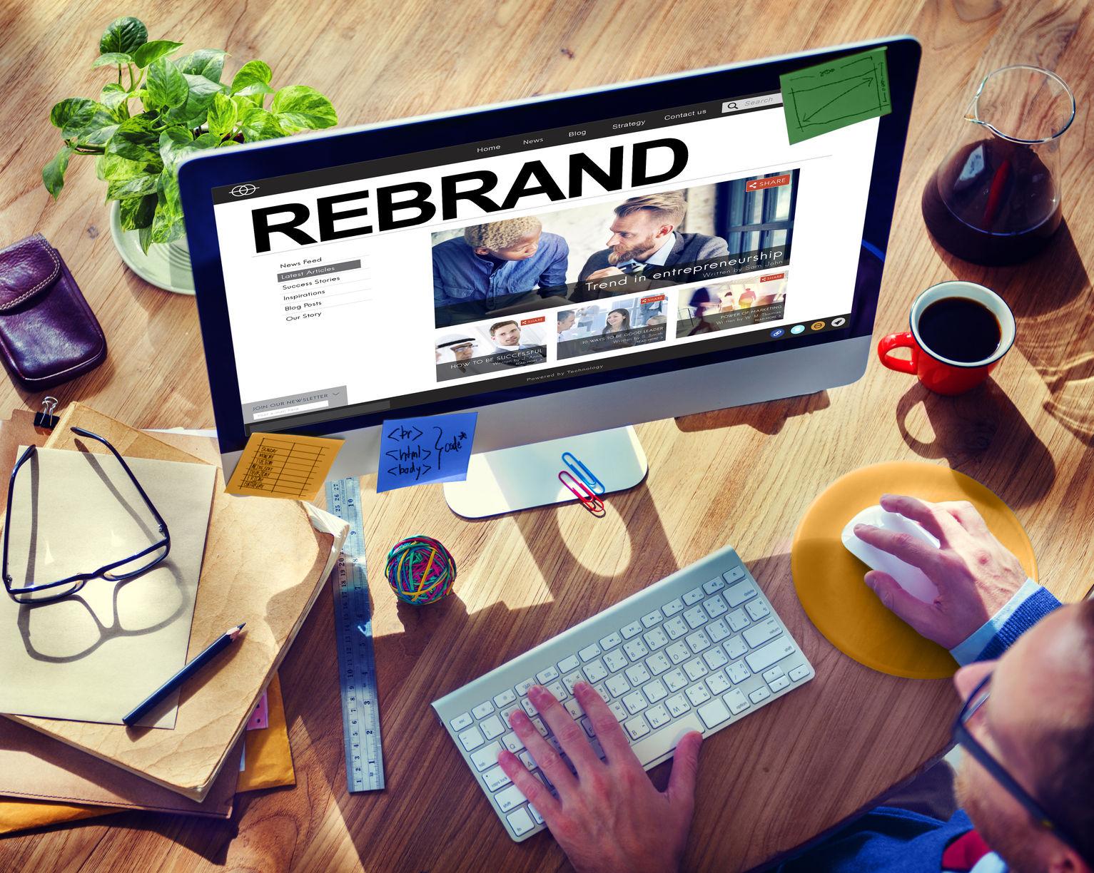 rebrand strategy marketing image corporate brand concept