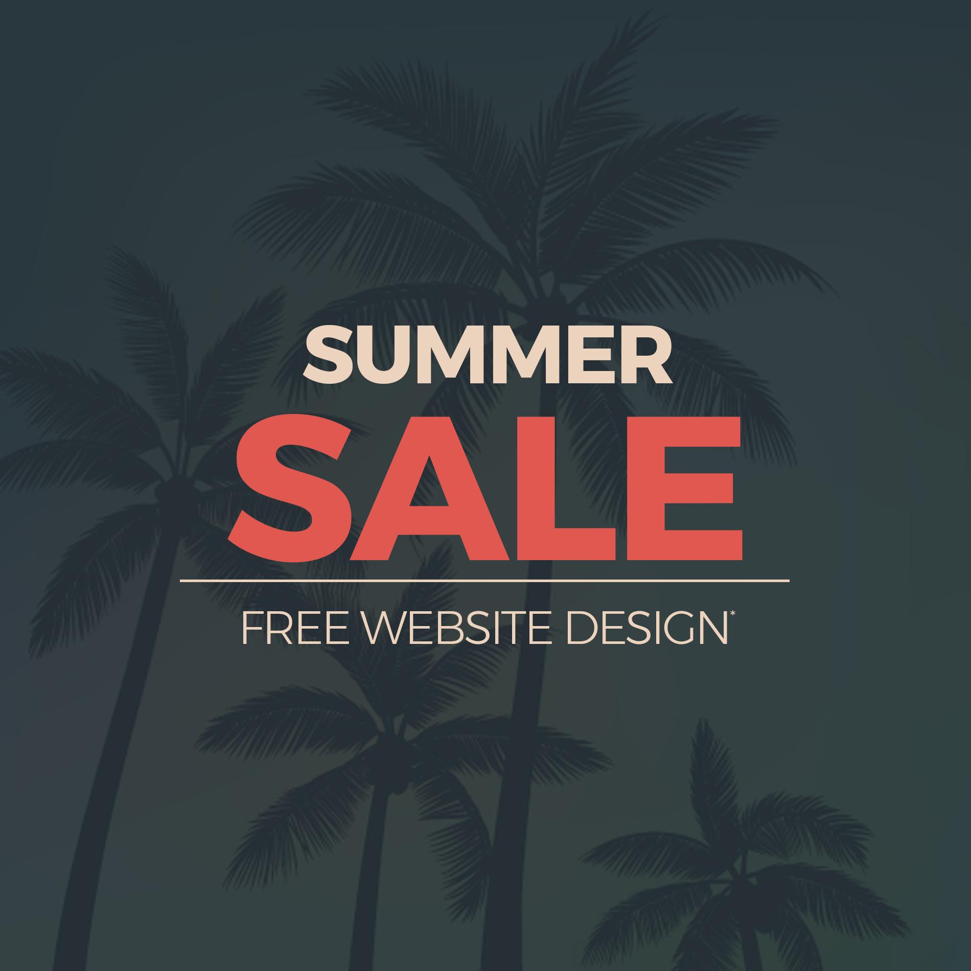 Summer Sale Free Website Design